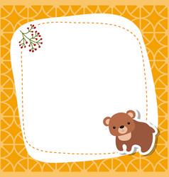 greeting card with cute bear greeting card with vector image