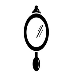 hand mirror icon simple black style vector image