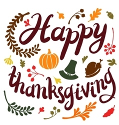 happy Thanksgiving day leaves banner vector image