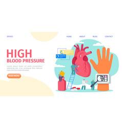 High blood pressure measuring landing vector