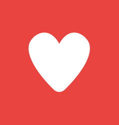 Icon concept of heart shape on red background vector