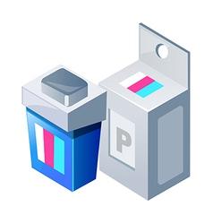 Icon printer ink vector