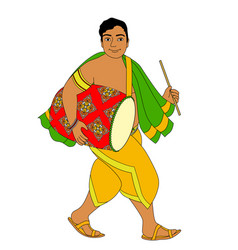 indian drummer vector image