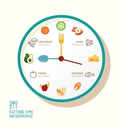 Infographic watch and flat icons idea eatting vector image