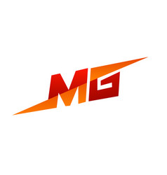 Letter mg logo speed design concept template vector