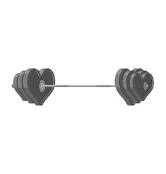 Love barbell heart weights amur fitness sports vector