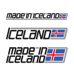 Made in iceland vector