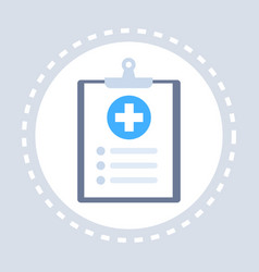 medical history or report note paper clipboard vector image