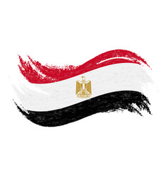 national flag of egypt designed using brush vector image