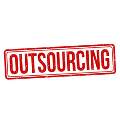 Outsourcing sign or stamp vector