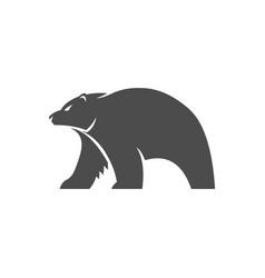 polar bear logo animal vector image