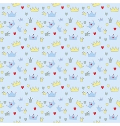 Prince Seamless Pattern Background vector image