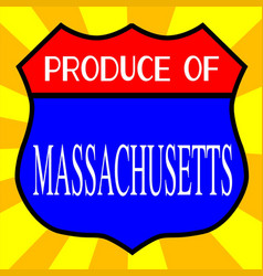 Produce of massachusetts shield vector