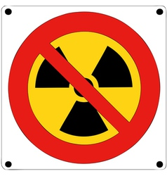 Prohibition of nuclear radiation vector image