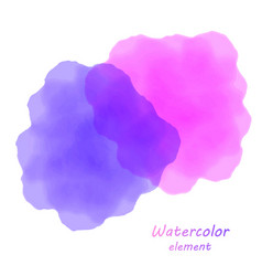 Purple watercolor blotch set of purple watercolor vector