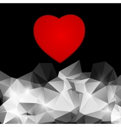 Red heart on an abstract background vector