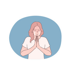 religion praying begging concept vector image