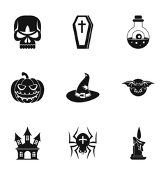 Resurrection of dead icons set simple style vector
