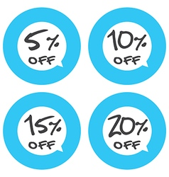 Sale discount icons vector image