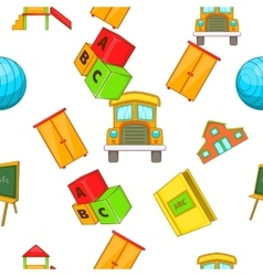 School pattern cartoon style vector