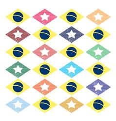 Seamless pattern brazil Internationale vector image