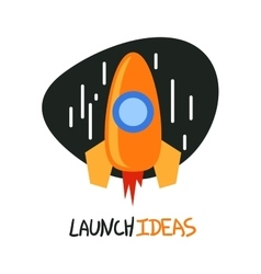 Start up rocket logo concept symbol vector image