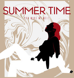 summer time hand drawn pretty vector image