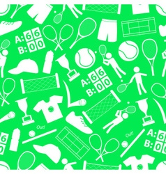 tennis sport theme white and green seamless vector image
