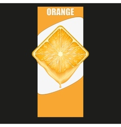 Vertical Banner of orange square slice Space for vector