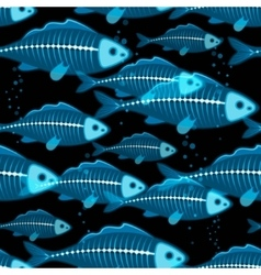 X-ray fish seamless vector
