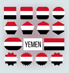 yemen flag set official nepal yemen flat vector image