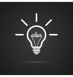 Inspiration bulb vector image