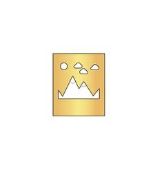 Mountains computer symbol vector