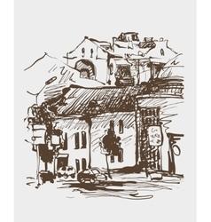 original digital sepia sketch of Kyiv Ukraine vector image vector image