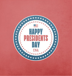 presidents day card vector image vector image
