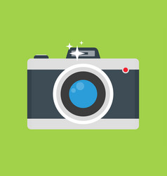 retro camera with flash flat colorful vector image vector image