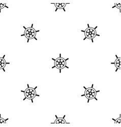 wheel of ship pattern seamless black vector image vector image
