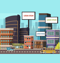 city abstract composition vector image