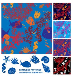 Seamless Coral Reef vector image vector image