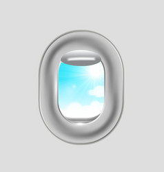 Airplane window vector image