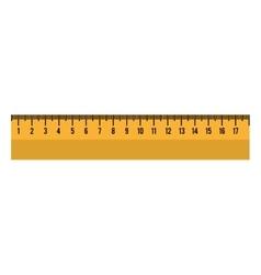 cartoon ruler tool school graphic vector image