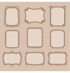 Cute doodle frames vector image