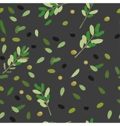 Greek Food Pattern vector image vector image