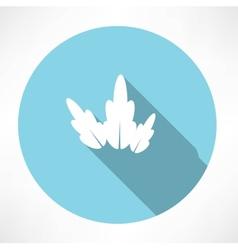 Petal icon vector image vector image