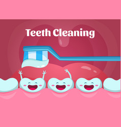 cartoon of cute and funny teeth in vector image vector image