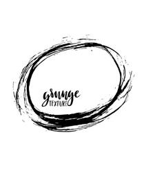 Grunge frame Ink background Hand drawn vector image vector image