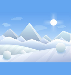 simple cartoon of winter vector image