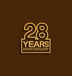 28 years anniversary design line style vector