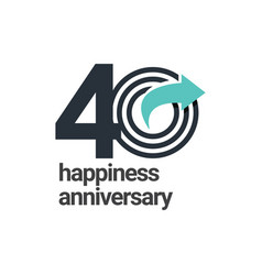 40 years happiness anniversary template design vector