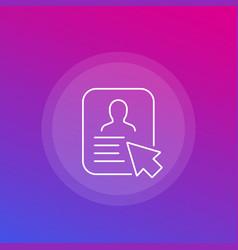 Account profile icon line vector